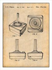 1980 Atari 2600 Video Joystick Controller Patent Print Art Drawing Poster 18X24