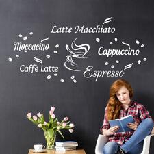 Wandtattoo Wandsticker Wandaufkleber Esszimmer Kaffee Cappuccino Espresso W1400