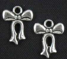 Wholesale 16/32/70/210Pcs Tibetan Silver (Lead-Free)Bow tie Charms 12x15mm