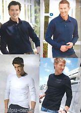 Herren Shirt Poloshirt Langarmshirt Herrenshirt Sweatshirt Pullover Longsleeve