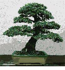 Bonsai Blue Atlas Cedar Needlepoint Kit or Canvas (Asian/Japanese/Tree/Nature)