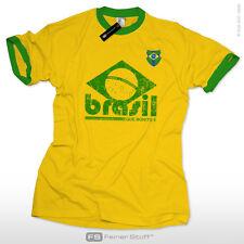 Brasilien 2018 Trikot Shirt Brasil Retro Fussball WM Kult Fan T-Shirt S-XXL