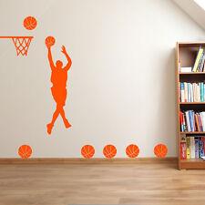 Basketball Player Basketballer Slam Dunk Hoop Sport Wall Stickers Decals New A36
