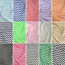 Polycotton Fabric 6 mm Zig Zag Chevron réparti Craft Matériau