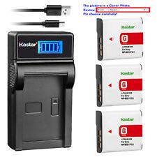 Kastar Battery LCD Charger for Sony NP-BG1 NPFG1 Sony Cyber-shot DSC-H90 Camera