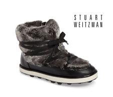 NEW Stuart WeitzmanAriana Black Faux Fur Lined Snow Boots(Sizes 9, 1, 2, 5)