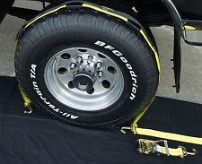 (16) USA Car hauler Auto Hauler Stacker Trailer Over Tire Tie Down Ratchet Strap