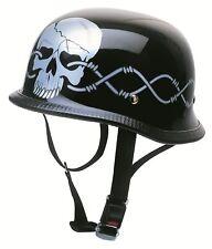 Motorrad Helm Motorradhelm Jethelm Halbschale Kochmann schwarz wired S M L - XXL