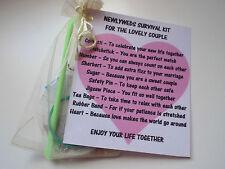 Mr & Mrs/Marriage/Newlywed/MarriedSurvival Kit Novelty Gift Keepsake Fun Present
