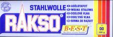 200g (2,50 €/100g) STAHLWOLLE GRAD 00 VON RAKSO, SCHLEIFWOLLE