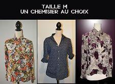 TAILLE M  UN CHEMISIER 3 MODELES MARQUE KIABI / DERHY /  MDO    TBE