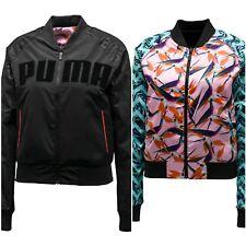 PUMA X Sophia Webster Black Logo Print Reversible Bomber Jacket. Size 8, 10, 12
