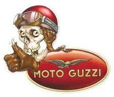 Sticker MOTO GUZZI  left skull gauche°
