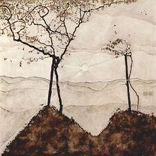 Egon Schiele-Delgado árboles Vintage Fine Art Print