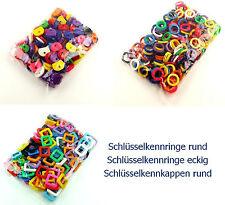Schlüsselkennringe Schlüsselkappe rund und eckig 24mm verschiedene Farben