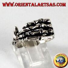 Anello  in argento 925‰  mano di scheletro