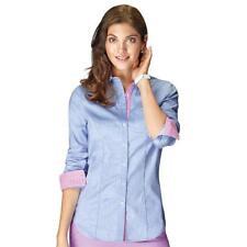 ~Avon~Gingham-Trim Chambray Shirt~Choose Your Size~Small, Medium, or Large~NIP~