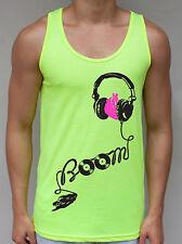 Boom Neon Tank Top Headphones EDM DJ Rave WMC Ultra EDC Vegas Festiival