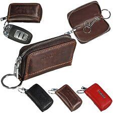 Schlüsseletui Schlüsseltasche Schlüsselmappe Rindsleder Kroko-Look Lack ~ Beere