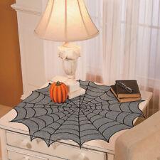 HALLOWEEN OCTAGON CREEPY SPIDERWEB TABLE RUNNER TABLECLOTH HAUNTED HOUSE DECOR
