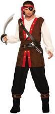 Buccaneer of Seas Caribbean Pirate Captain Fancy Dress Halloween Adult Costume