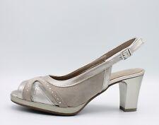 CINZIA SOFT Sandali donna eleganti linea comoda in pelle vernice beige  IAB322319 2eddc583ae6