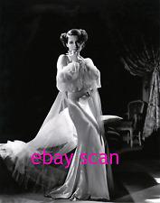 NORMA SHEARER 8X10 Lab Photo B&W Sexy Glamour 1930s Slinky Satin Gown Portrait