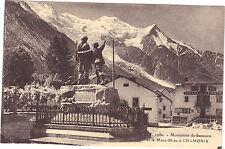 74 - cpa - Monument de Saussure à CHANONIX  (1458)