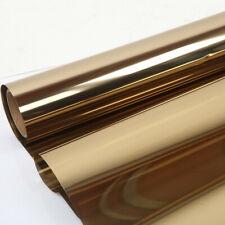 Window Film Gold Solar Tint Film Mirrored Reflective Vinyl Privacy Film Sticker