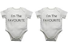 Gemelos bebé bodis Set Of 2 Im El Favorito Gracioso Body Camiseta