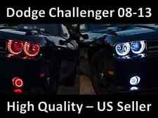 Dodge Challenger Kit 2012 2013 LED Headlight Fog Light Halo Angel Demon Eyes Set