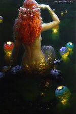 Home Decor HD prints Abstract oil painting canvas Wall Art Fantasy Mermaids N39