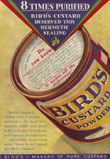 "AV11 Vintage Uccelli Custard ADVERTISMENT POSTER Stampa A3 17 ""x12"""