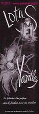 PUBLICITE PARFUM YARDLEY LOTUS EAU DE TOILETTE DE 1955 FRENCH AD PERFUME FLEUR