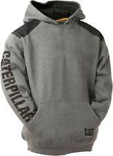 Caterpillar CAT Logo grey panel hoodie hooded sweatshirt