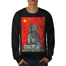 China Flag Lion Fantasy Men Sweatshirt NEW   Wellcoda