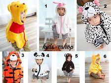 BABY Girl Boy Bambino Unisex Felpa con cappuccio Bear Cappotto Giacca In Pile Animale Carino 0-3Y