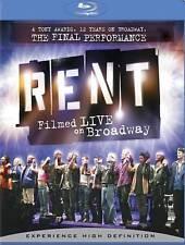 RENT: Filmed Live On Broadway (Blu-ray Disc, 2009)