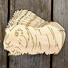 10x legno cavia LONG haired Craft forme 3mm compensato dagli animali da compagnia roditore