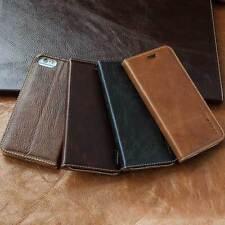 Luxury Leder Schutzhülle für Apple iPhone 7/6/6s Handy Tasche Case Cover braun