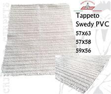 Tappeto Stuoia in PVC Swedy misura 57x63-57x58-59x56- Trama in Cotone - Lavabile