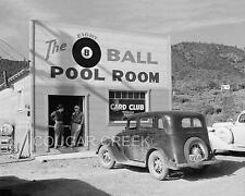 5x7 THE 8 BALL POOL ROOM HALL CLUB 1933 WILLYS PHOTO
