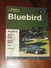 Datsun Series 1 BLUEBIRD 1981-1983 GL, GX, TRX, LX sedan + wagon WORKSHOP MANUAL