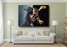 Jack Sparrow Pirates Crâne Johnny Depp grande affiche Wall Art Imprimé-A0 A1 A2 A3