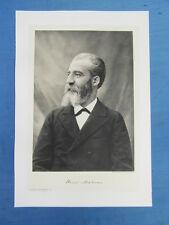 FRANCE CONTEMPORAINE DELTOUR PORTRAIT 1905 : HENRI MOISSAN NOBEL CHIMIE PHARMAC.