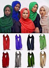Lot 4 High Quality Cotton Scarf Soft Mantilla Hijab Islamic Shawl Wrap Pashmina