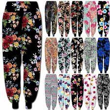 Womens Harem Trousers Ali baba Long Leggings Baggy Hareem Pants Plus Size 8-26