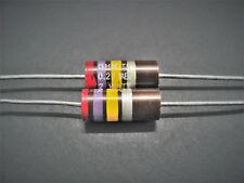(2) 2W 5% 10% Carbon Comp Resistors, Ohmite, Allen Bradley Vintage NOS OH series