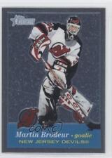 2001 Topps Heritage Retrofractor 46 Martin Brodeur New Jersey Devils Hockey Card