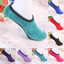 Warm Women Slipper Non-Slip Anti-skid Socks Womens Fleece Gripper Slippers P1